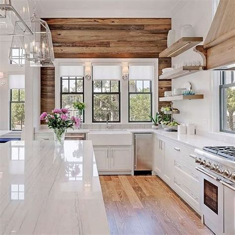 wood wall kitchen farmhouse kitchens with fixer upper style