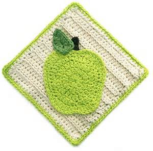 Free Crochet Apple Dishcloth Pattern