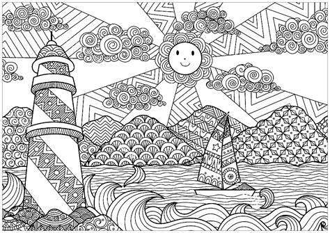 Luxury Printable Landscape Coloring Pages For Adults