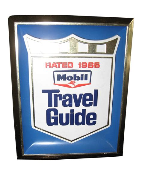 mobil travel fabulous 1965 mobil travel guide counter top display sign