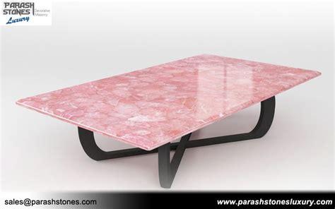 rose quartz table l semi precious tabletop agate gemstone table manufacturer