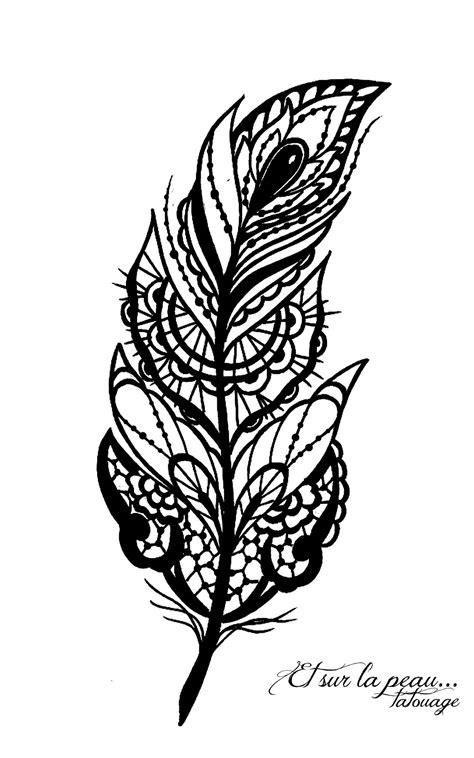 plume dentelle bijoux modele pour tatouage lace feather