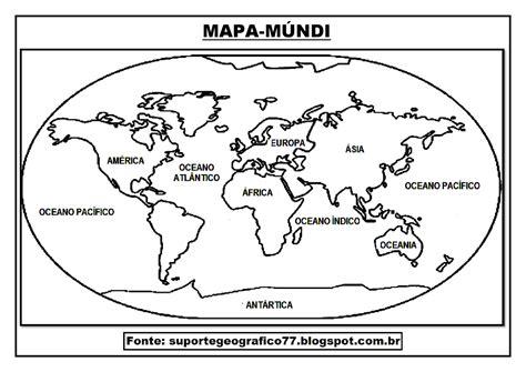 Mapa Mundo Para Colorear SEONegativo com