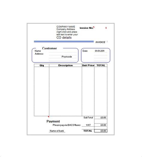invoice template   added tax   word