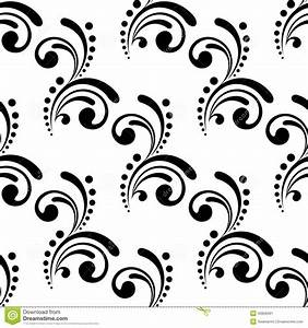 Elegant Seamless Pattern Design With Swirls And Stock ...