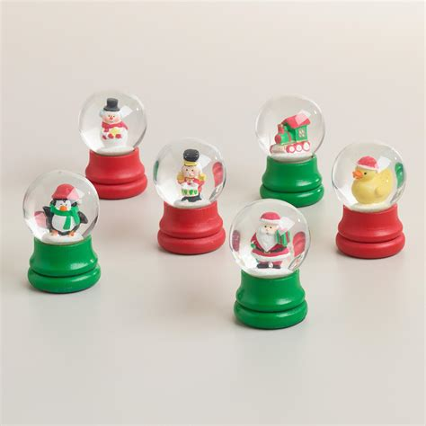 mini holiday snow globes set of 6 world market