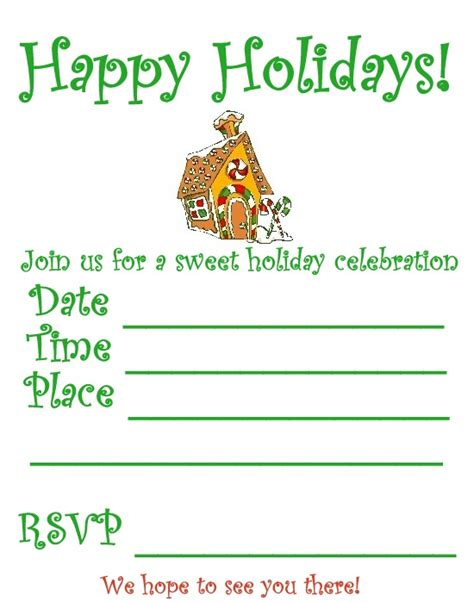 printable christmas invitations 6 best images of christmas party invitation printable