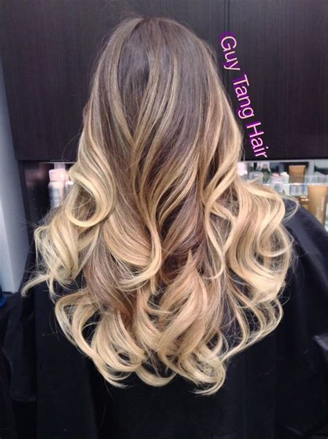 amazing color fade  natural medium brown  champagne