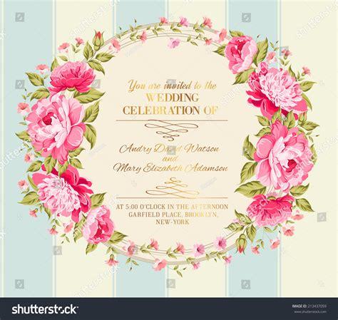 wedding invitation card color flowers vector stock vector