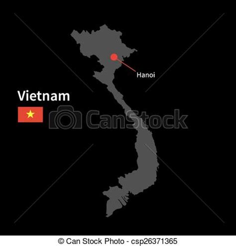 clip art vector  detailed map  vietnam  capital