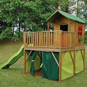 Cabane Toboggan Pas Cher : cabane pour enfant pas cher ~ Dailycaller-alerts.com Idées de Décoration