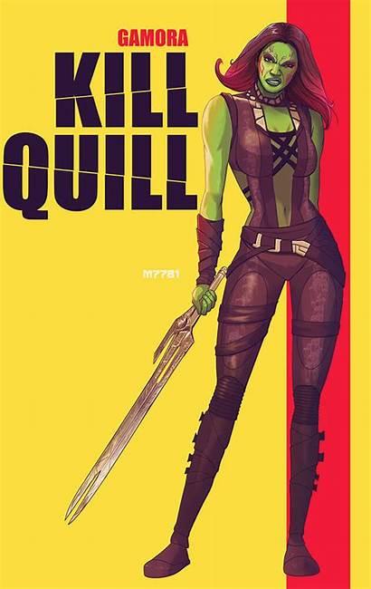 Gamora Mashup Guardians Galaxy Kill Superhero Quill