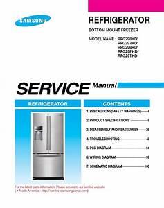 Samsung Rfg298hdrs Rfg298hdwp Rfg298hdbp Service Manual