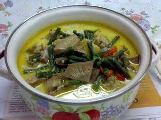 menu sehat halal lodeh nangka muda kacang panjang