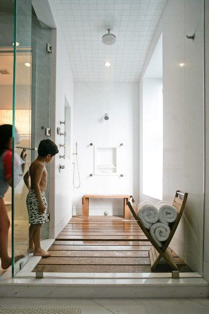 remodeling contractorshower trend teak wood floor
