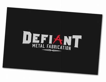 Fabrication Metal Defiant Custom Cards Business Company