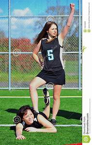 Triumphant Girls Lacrosse Player Stock Photo - Image of ...