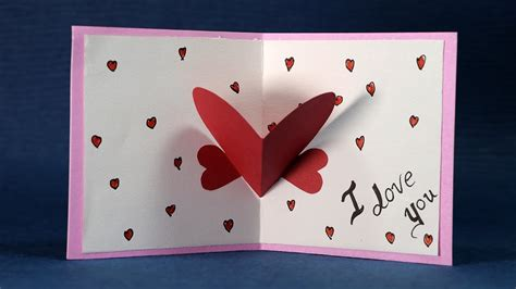 happy valentines day card diy valentine card making