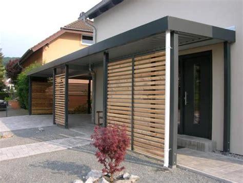 Carportcarportstahlmithausingangsueberdachung Haus