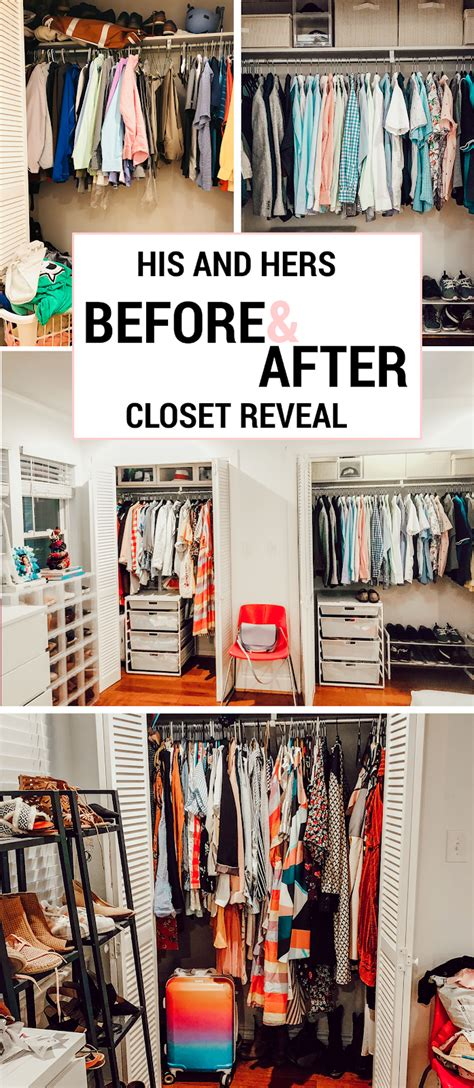 Bedroom Organization Makeover Ideas by His And Small Bedroom Closet Makeover With The