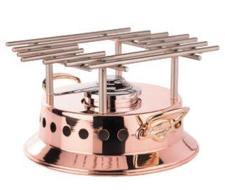 rechaud  flamber mauviel mtradition  cm monture bronze