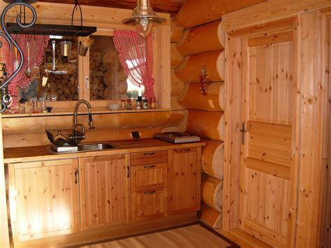 cuisine de chalet chalets maison bois rond