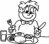Coloring Thanksgiving Dinner Pages Getcoloringpages Plate Cartoon Pies Table Eat sketch template