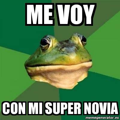 Foul Bachelor Frog Meme Generator - meme foul bachelor frog me voy con mi super novia 13733844