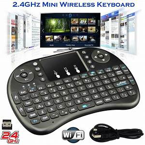 2 4ghz Mini Wireless Keyboard Remote Controls Touchpad