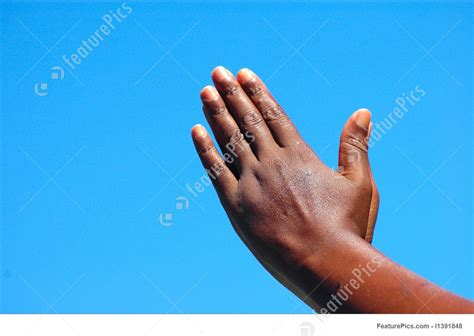 praying black hands picture