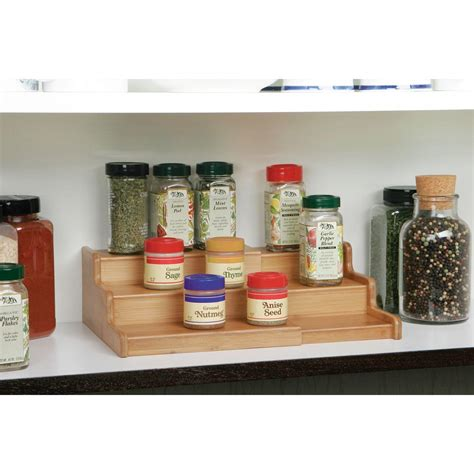 spice rack organizer for cabinet amazon com seville classics 3 tier expandable bamboo