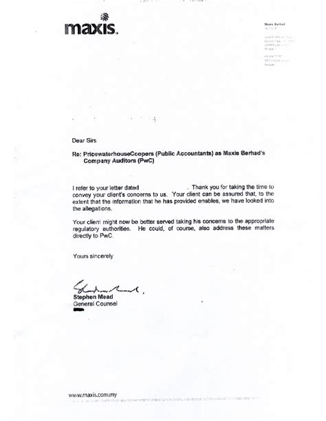 format  auditor resignation letter  companies act