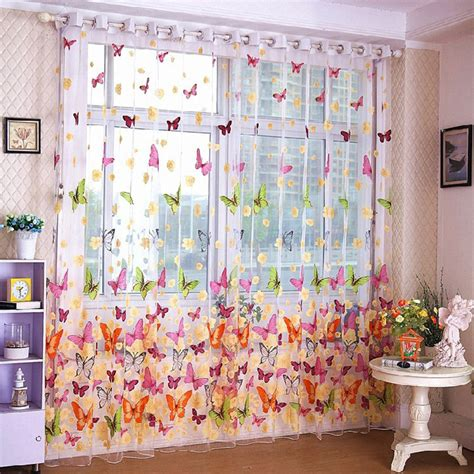 2017 cheap window tulle curtains kitchen bedroom ready