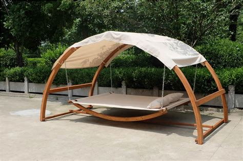Wooden Hammock With Canopy by New Arched Wooden Swing Hammock Bed W Canopy 2