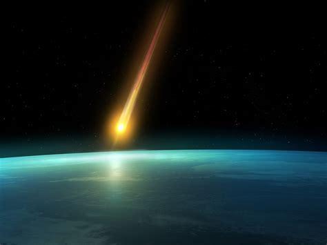 falling comet   earths atmosphere background hd