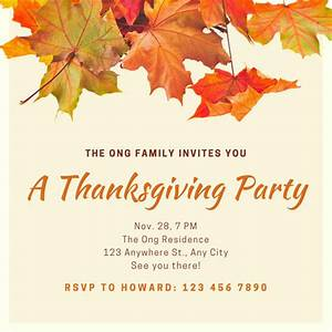 Wedding Cd Labels Customize 78 Thanksgiving Invitation Templates Online Canva