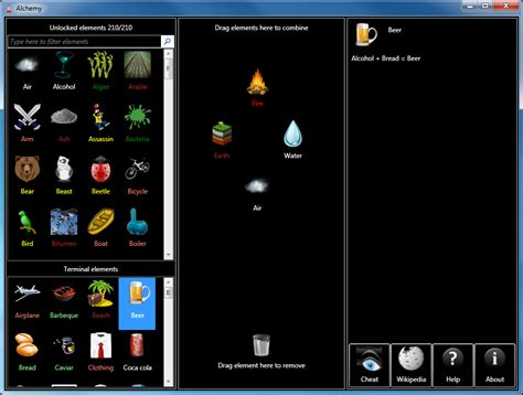 Once you are in the game, press the menu button and find the twitter bird icon. Alchemy for Windows