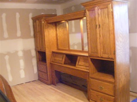 Lighted Bedroom 2-pier Wall Unit (queen Size) With