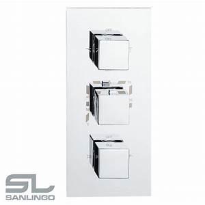 Mischbatterie Dusche Unterputz : sanlingo dusche unterputz vier wege mischbatterie wannenarmatur armatur thermostat chrom ~ Sanjose-hotels-ca.com Haus und Dekorationen