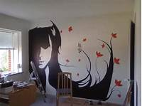 easy wall painting ideas Wall Decal Quotes: Silhouette Paintings Transform Wallls ...