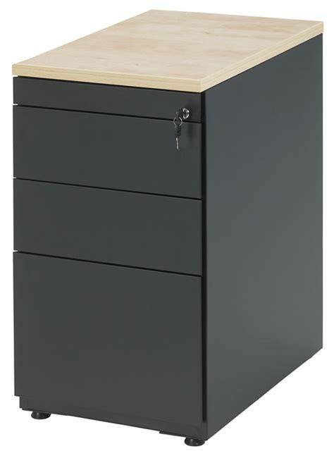 plumier de bureau bs1336 caisson hauteur bureau avec 3 tiroirs incl