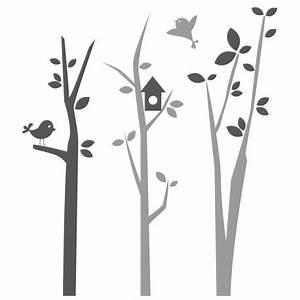 stickers arbre chambre bebe avec oiseaux autocollants With chambre bébé design avec envoyer des fleurs en espagne