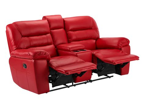 red sectional sofa with recliner devon small sofa with electric recliners red faux leather