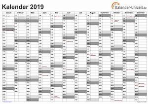 Jahreskalender 2018 2019 : excel kalender 2019 kostenlos ~ Jslefanu.com Haus und Dekorationen