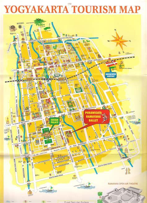 peta jogjakarta jogja tourism map