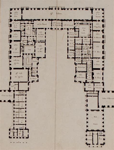 First Floor Plan, Château De Versailles (1814) It Shows