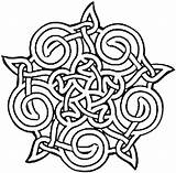 Celtic Coloring Printable Adults Geometric Flowers Colouring Knotwork Mandala Tribal Patterns Knots Symbols Bestofcoloring Woven Traditional Pentacle sketch template