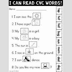 {freebie} I Can Read Cvc Words  Tpt Free Lessons  Pinterest  Quick Print, Sentences And