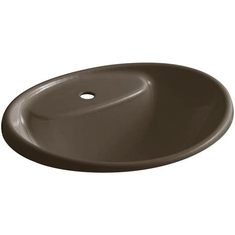 cast iron sink drain kohler tides drop in cast iron bathroom sink in suede with