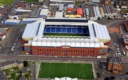 Rangers Glasgow Ibrox Stadium Aerial Fc Football